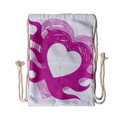 Hot Pink Love Drawstring Bag (small) by TRENDYcouture