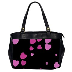 Pink Hearts Office Handbags (2 Sides)  by TRENDYcouture