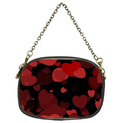 Red Hearts Chain Purses (two Sides)  by TRENDYcouture