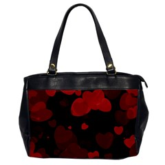 Red Hearts Office Handbags by TRENDYcouture