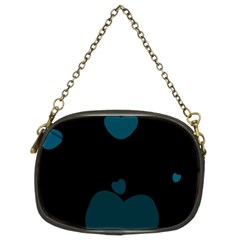 Teal Hearts Chain Purses (two Sides)  by TRENDYcouture