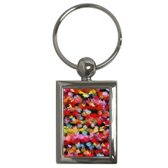 Colorful Brush Strokes                                             			key Chain (rectangle) by LalyLauraFLM