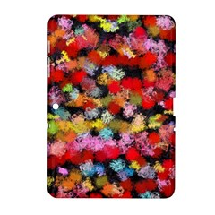 Colorful Brush Strokes                                             			samsung Galaxy Tab 2 (10 1 ) P5100 Hardshell Case by LalyLauraFLM