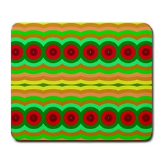 Circles And Waves                                              			large Mousepad by LalyLauraFLM