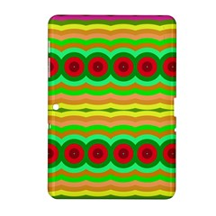 Circles And Waves                                              			samsung Galaxy Tab 2 (10 1 ) P5100 Hardshell Case by LalyLauraFLM