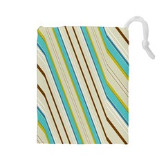 Bent Stripes                                               Drawstring Pouch by LalyLauraFLM