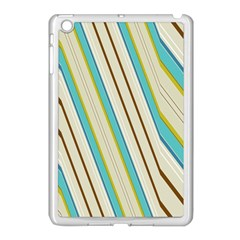 Bent Stripes                                               			apple Ipad Mini Case (white) by LalyLauraFLM