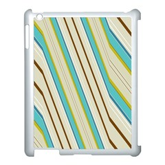 Bent Stripes                                               			apple Ipad 3/4 Case (white) by LalyLauraFLM