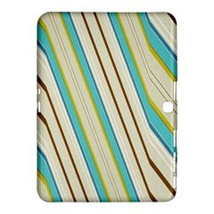 Bent Stripes                                               			samsung Galaxy Tab 4 (10 1 ) Hardshell Case by LalyLauraFLM