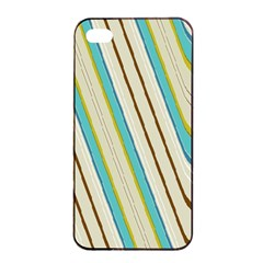 Bent Stripes                                               			apple Iphone 4/4s Seamless Case (black) by LalyLauraFLM