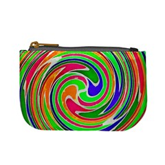 Colorful Whirlpool Watercolors                                                	mini Coin Purse by LalyLauraFLM