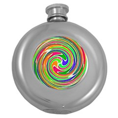 Colorful Whirlpool Watercolors                                                			hip Flask (5 Oz) by LalyLauraFLM