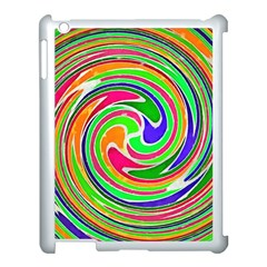 Colorful Whirlpool Watercolors                                                			apple Ipad 3/4 Case (white) by LalyLauraFLM