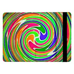 Colorful Whirlpool Watercolors                                                			samsung Galaxy Tab Pro 12 2  Flip Case by LalyLauraFLM