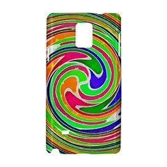 Colorful Whirlpool Watercolors                                                			samsung Galaxy Note 4 Hardshell Case by LalyLauraFLM