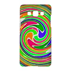 Colorful Whirlpool Watercolors                                                			samsung Galaxy A5 Hardshell Case by LalyLauraFLM