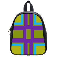 Angles And Shapes                                                 			school Bag (small) by LalyLauraFLM