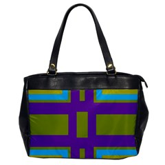 Angles And Shapes                                                 			oversize Office Handbag by LalyLauraFLM