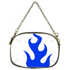 Blue Flames Chain Purses (two Sides)