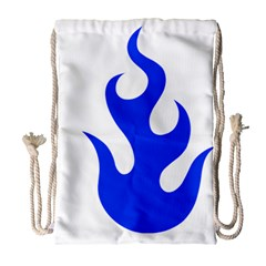 Blue Flames Drawstring Bag (large) by TRENDYcouture