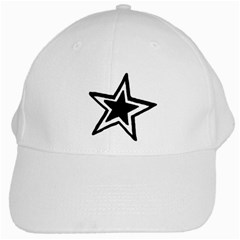 Double Star White Cap by TRENDYcouture