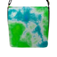 Calming Sky Flap Messenger Bag (l)  by TRENDYcouture