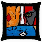 Blue Throw Pillow Case Front