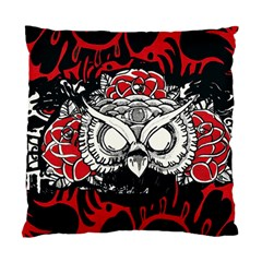 Dark Owl Square Cushion Case (two Sided)  by DryInk