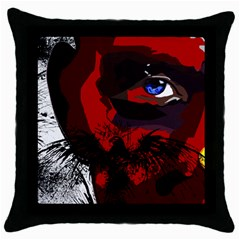 Eagleman Black Throw Pillow Case by DryInk