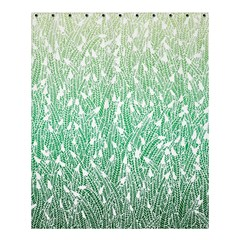 Green Ombre Feather Pattern, White, Shower Curtain 60  X 72  (medium) by Zandiepants