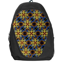 Vibrant Medieval Check Backpack Bag by dflcprints