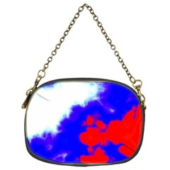 Red White And Blue Sky Chain Purses (two Sides)