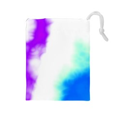 Pink White And Blue Sky Drawstring Pouches (large)  by TRENDYcouture