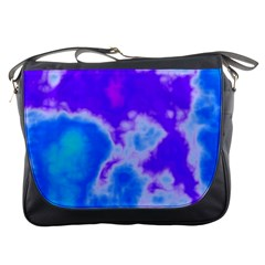 Purple And Blue Clouds Messenger Bags by TRENDYcouture