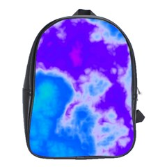 Purple And Blue Clouds School Bags (xl)  by TRENDYcouture