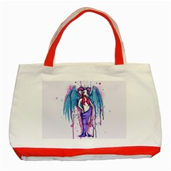 Dirty Wings Classic Tote Bag (red) by lvbart