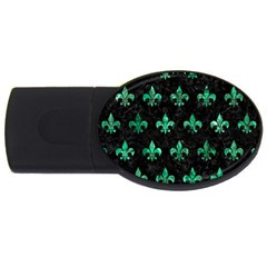 Royal1 Black Marble & Green Marble (r) Usb Flash Drive Oval (2 Gb) by trendistuff