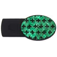 Royal1 Black Marble & Green Marble Usb Flash Drive Oval (2 Gb)