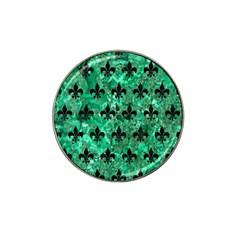 Royal1 Black Marble & Green Marble Hat Clip Ball Marker by trendistuff