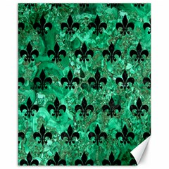 Royal1 Black Marble & Green Marble Canvas 16  X 20  by trendistuff