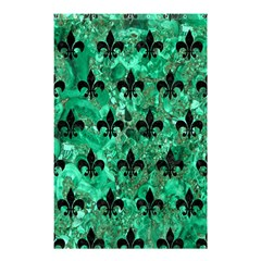 Royal1 Black Marble & Green Marble Shower Curtain 48  X 72  (small) by trendistuff
