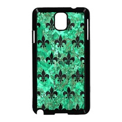 Royal1 Black Marble & Green Marble Samsung Galaxy Note 3 Neo Hardshell Case (black) by trendistuff