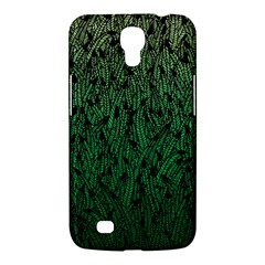 Green Ombre Feather Pattern, Black, Samsung Galaxy Mega 6 3  I9200 Hardshell Case by Zandiepants
