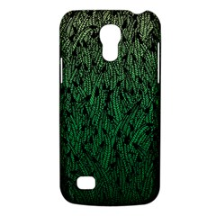 Green Ombre Feather Pattern, Black, Samsung Galaxy S4 Mini (gt I9190) Hardshell Case  by Zandiepants