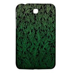 Green Ombre Feather Pattern, Black, Samsung Galaxy Tab 3 (7 ) P3200 Hardshell Case  by Zandiepants