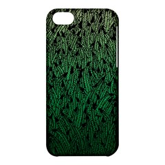 Green Ombre Feather Pattern, Black, Apple Iphone 5c Hardshell Case by Zandiepants