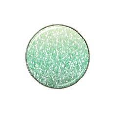 Green Ombre Feather Pattern, White, Hat Clip Ball Marker (4 Pack) by Zandiepants