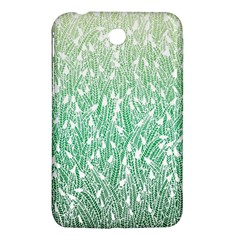 Green Ombre Feather Pattern, White, Samsung Galaxy Tab 3 (7 ) P3200 Hardshell Case  by Zandiepants