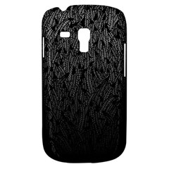 Grey Ombre Feather Pattern, Black, Samsung Galaxy S3 Mini I8190 Hardshell Case by Zandiepants