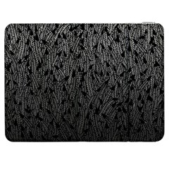 Grey Ombre Feather Pattern, Black, Samsung Galaxy Tab 7  P1000 Flip Case by Zandiepants